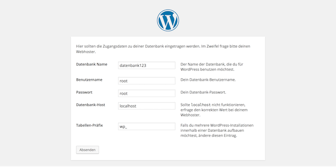 wordpress-lokal-datenbank