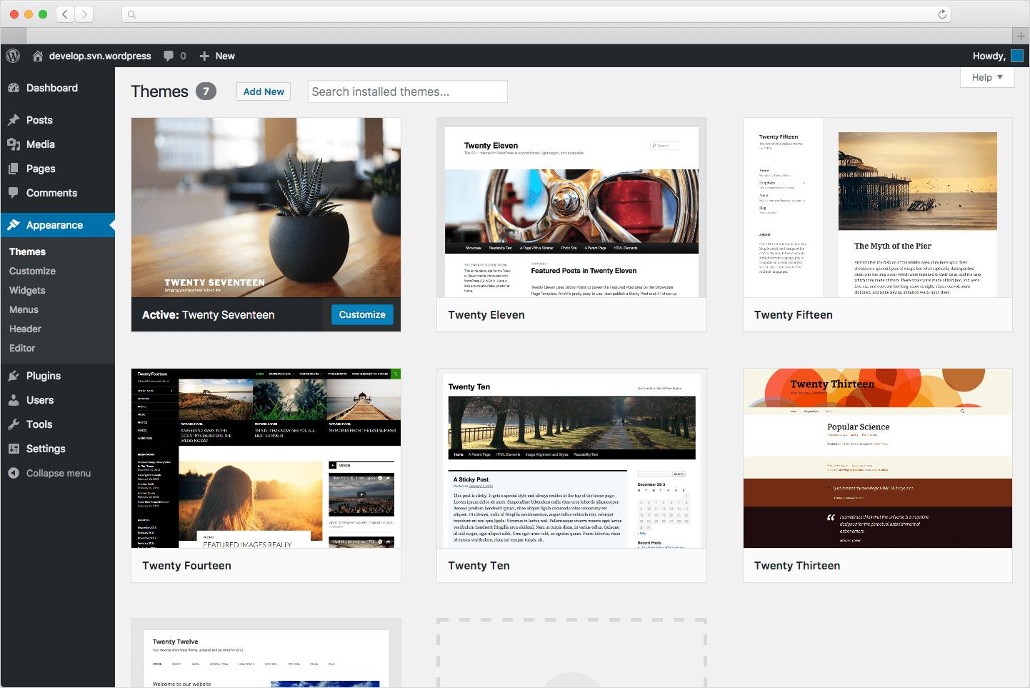 WordPress Standard-Themes im Überblick (Stand 2021)